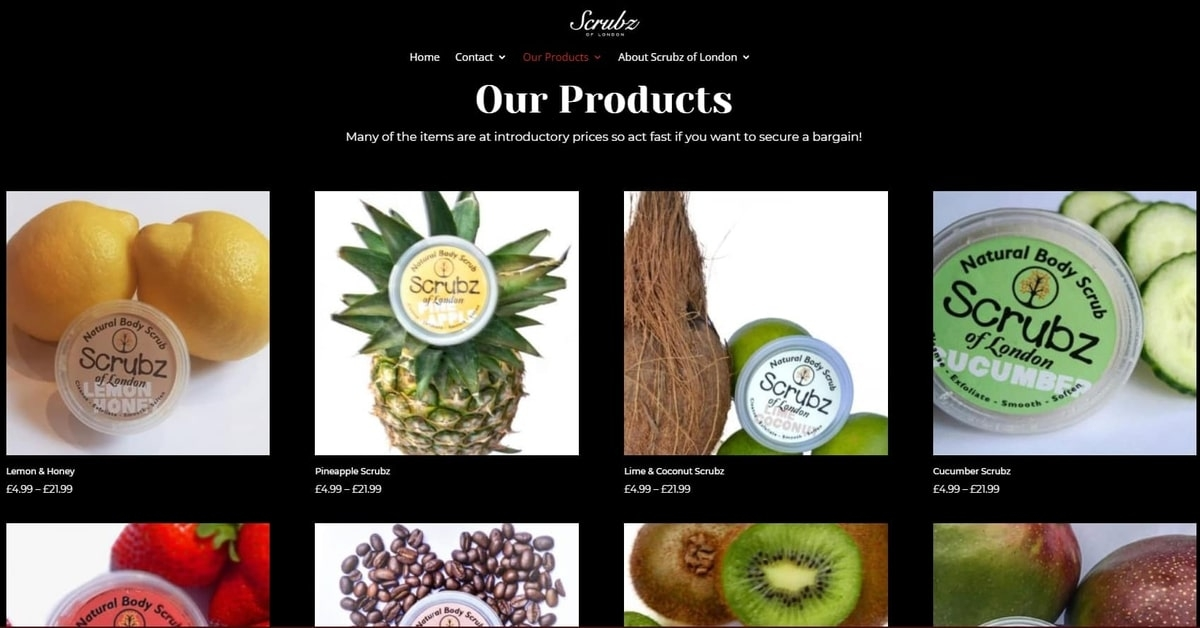 Scrubz of London is proud to offer you our continually growing range of skincare products. Many of the items are at introductory prices so act fast if you want to secure a bargain. We welcome you to browse our store.